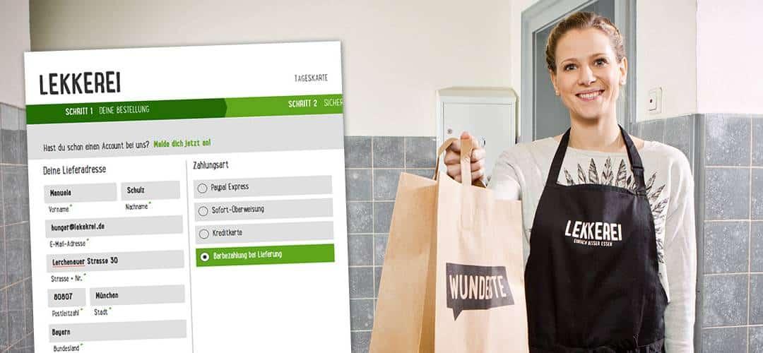 Dein Essen online bestellen & bei der Lieferung bar bezahlen