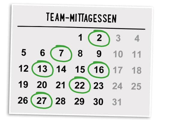 Business Lunch Catering Kalender