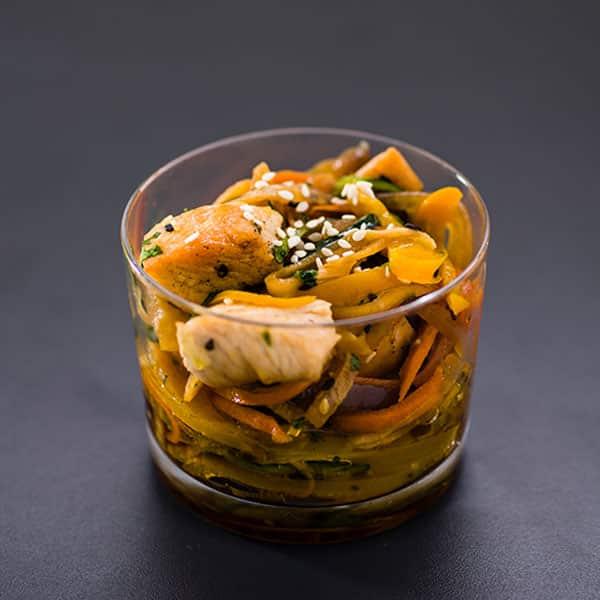 Hühnchen Paprika Salat