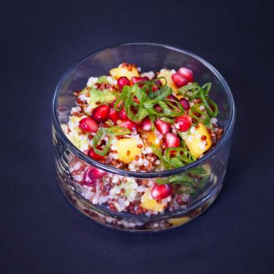 Zucchini-Basilikum-Salat mit Parmesan