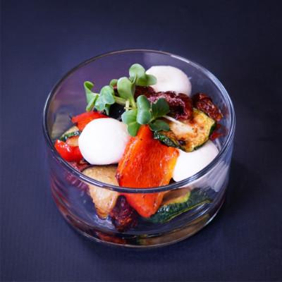 Frischkäsekugeln mit diversen Toppings